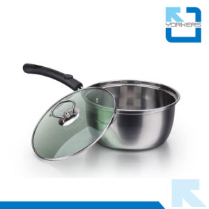 20cm SGS Cheap Stainless Steel Milk Boiling Pot Milk Pot pictures & photos