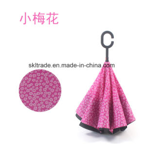 New Item Portable Handsfree Straight Reverse Inverted Umbrella pictures & photos