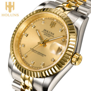 Luxury Golden Business Mechanical Men Watch Stainless Steel Waterproof Shock Resistant Reloj Digital pictures & photos