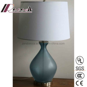 Modern Original Glass Body Blue Table Lamp for Bedroom pictures & photos