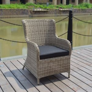 Outdoor Patio Leisure Furniture Dining Half Round Wicker Chair for Dining Table (J5881) pictures & photos