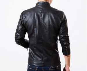 Cool Mens Coat Leather Jacket with Fleece Lining pictures & photos