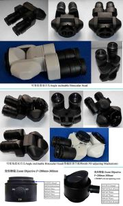 Angle Inclinable Binocular Head and Zoom Objective F=200mm-300mm