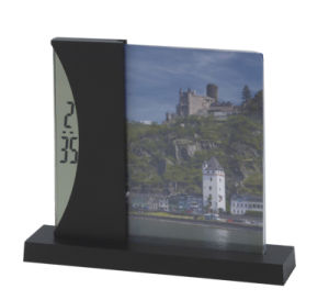 Photo Frame Insert Digital Table Clock pictures & photos