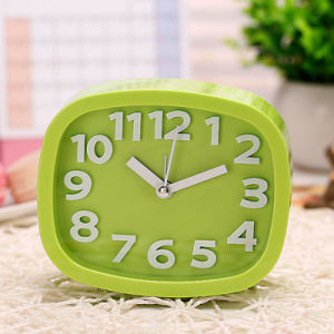 Mini Candy Color 3D Number silent Clock pictures & photos