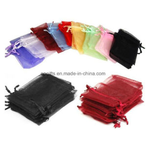 Custom Promotional Drawstring Nylon Satin Non-Woven Organza Bag pictures & photos