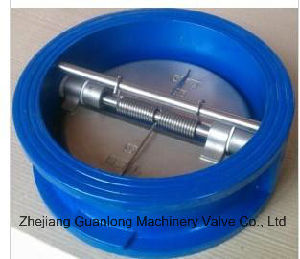Wafer Double Disc Silent Butterfly Swing Check Valve (H76X/H DDCV) Spring Loaded pictures & photos