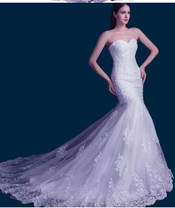 2017 Mermaid Lace Beaded Bridal Wedding Gown Z001 pictures & photos