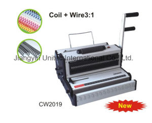 2016 Selling Product 2 in 1 Coil and Wire Binding Machine Cw2019