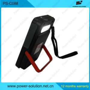 Black Red Compact Solar Panel Power Bank for Camping pictures & photos