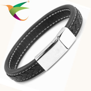 Stlb-17011014 Fashion Black Charm Bracelet for Man
