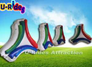 Inflatable advertising triangle board with air blower pictures & photos