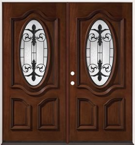 Home Solid Wood Entry Glass Door with Sidelights (GSP1-038) pictures & photos