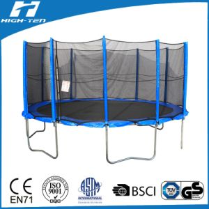 14FT Premium Big Round Trampoline with Enclosure pictures & photos