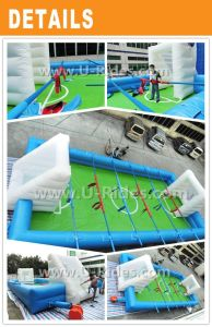 Inflatable Human Foosball Court for Children pictures & photos