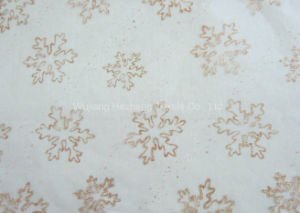 Snowflake Organza Fabric for Decoration pictures & photos