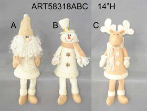 Santa Snowman Moose Tree Top, 3asst-Christmas Decoration pictures & photos