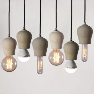 Modern Classic Loft Style Concrete Pendant Light with Edison Bulb pictures & photos