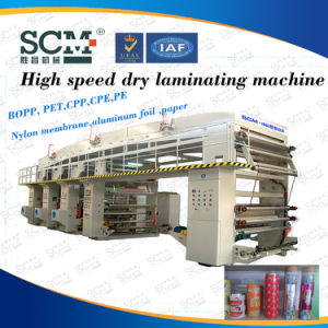 PVDC PVC Aluminum Foil Pet Paper Laminating Machine