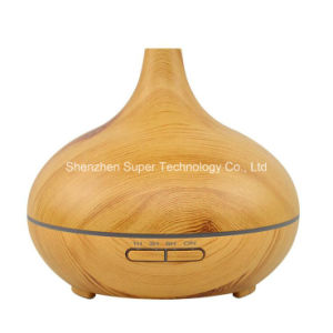 Ultrasonic Cool Mist 7-Color LED Light Wood Grain Aroma Diffuser pictures & photos