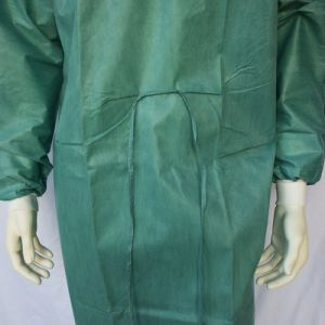 Disposable Olive SMS Surgical Gown with Knitted Cuffs pictures & photos
