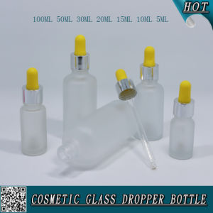 Cosmetic Packaging Frosted Glass Essential Oil Dropper Bottle pictures & photos