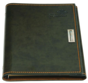 Office Supply with Lock PU Leather Notebook Printing pictures & photos