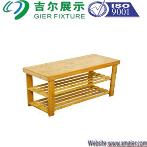 Furniture Display Rack Wood Shoe Rack (BDS-029) pictures & photos