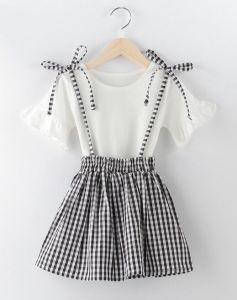 Summer Fashion Latest Lovely Falbala Sleeve Bowknot Little Girl′s Dress pictures & photos