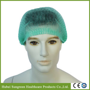 Disposable Non-Woven Mob Cap with Green Color pictures & photos