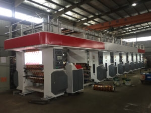 Automatic Arc High Speed Rotogravure Plastic Film Printing Press 200 M/Min pictures & photos