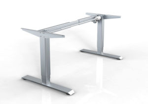 White Customized Metal Steel Electric Height Adjustable Office Lift Table Frame with Hts04-1 pictures & photos