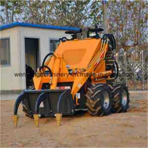 Earthmoving Machinery Micro Loader with Road Sweeper pictures & photos