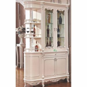 Living Room Cabinet with Wood Partition Table and Wine Cabinet pictures & photos