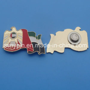 UAE 45th National Day Gold Soft Enamel Falcon Flag Design Magnetic Badge pictures & photos