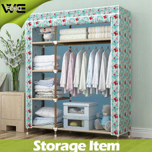 Bear Heavy Items Steel Bedroom Furniture Fabric Simple Wardrobe pictures & photos