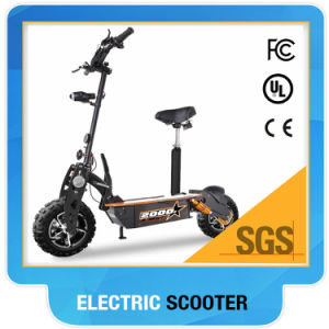 2000W Racing Electric Scooter with LED Lights Pedals pictures & photos