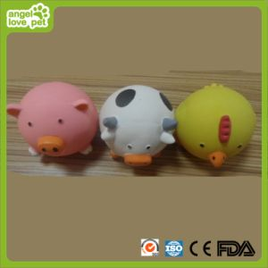 Pig and Cow and Chicken Shape Latex Pet Toy (HN-PT419) pictures & photos