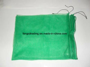 80X100cm, 70X90cm Green Mono Filament HDPE Date Tree Date Palm Mesh Net Bag for Date Cover with Black Drawstrings pictures & photos