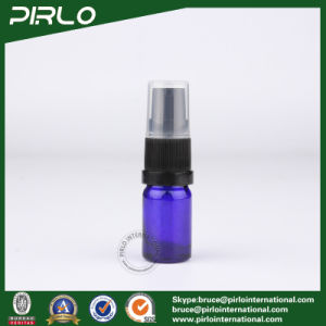 5ml Cobalt Glass Spray Bottles with Black Lotion Pump Sprayer pictures & photos