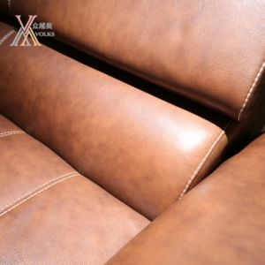 Top Grain Leather Sofa Matching with Swivel Chair (1277A+32) pictures & photos