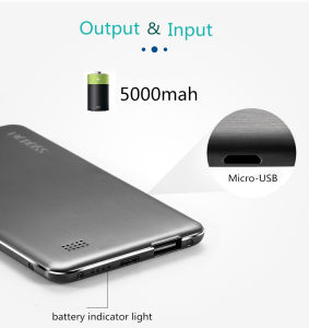 5.8mm Ultrathin Power Bank 5000mAh, Wiredrawing Process, Anti-Fingerprint pictures & photos