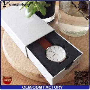 Yxl-157 Promotional New Style Watch Box OEM Logo Wholesale Good Quality Leathr Paper Packaging Box Factory pictures & photos