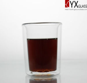 350ml Heat-Resistant Borosilicate Double Wall Glass Tea Cup/Double Wall Glass Coffee Cup/Double Layer Glass Coffee Cup