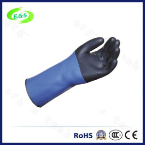 Green Industrial Chemical Resistant Rubber Gloves pictures & photos