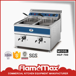 1 Tank 1 Basket Stainless Steel Electric Chip Fryer (HEF-779) pictures & photos