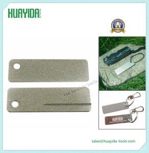 PRO Outdoor EDC Mini Diamond Knife Sharpener Pocket Fish Nail Hook File Keychain