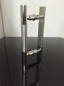 Glass Door Hinge Brushed Color Half Circle Stainless Steel H Handle pictures & photos