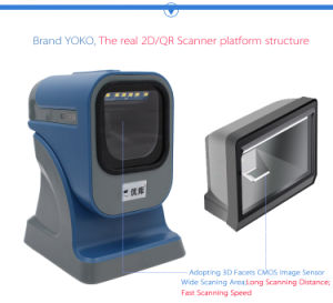 Yk-6200 2D Scanning Platform Barcode Scanner pictures & photos