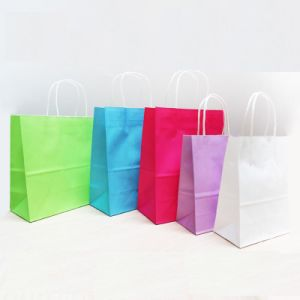 Custom Luxury Kraft Paper Shopping Bag with Logo Print pictures & photos
